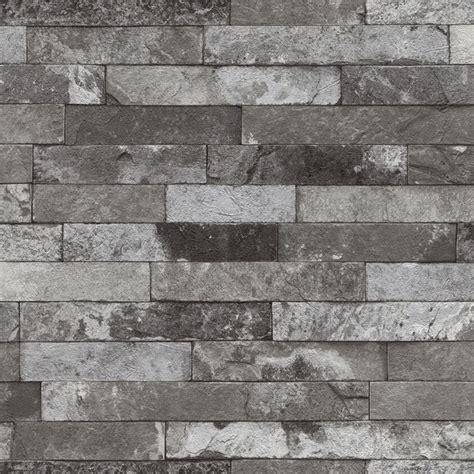 grey brick wallpaper medium gray distressed brick wallpaper wallpaper by