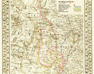 the great lonesome dove comanche moon trails map 20 quot x
