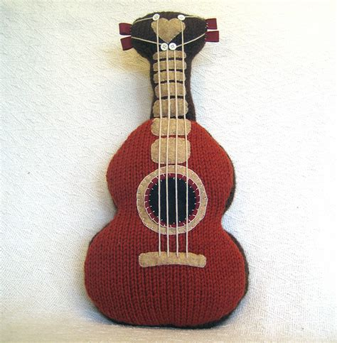 felt guitar pattern knitted guitar pattern make