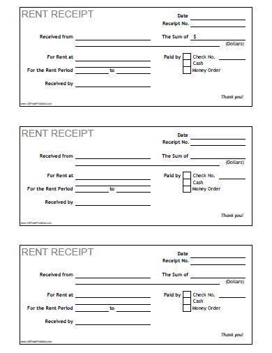 Dgr Receipt Template by Rent Receipt Free Printable Allfreeprintable