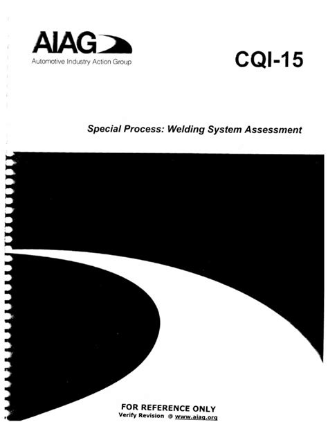 CQI-15 Welding System Assessment Aiag Cqi 11
