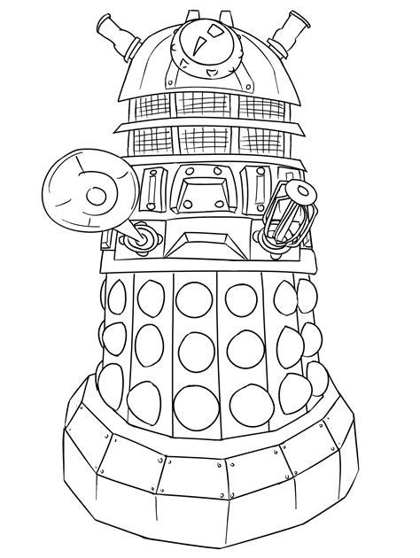 Share Doctor Who Coloring Page