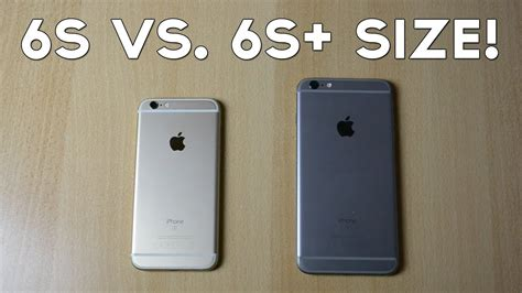 iphone 6s vs iphone 6s plus size comparison