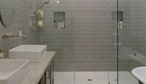 Contemporary Master Bathroom with Rain shower, Daltile