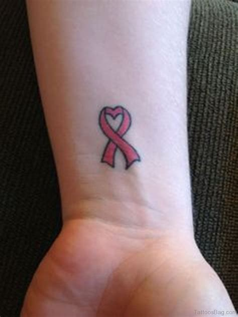 32 pretty cancer ribbon tattoos on wrist