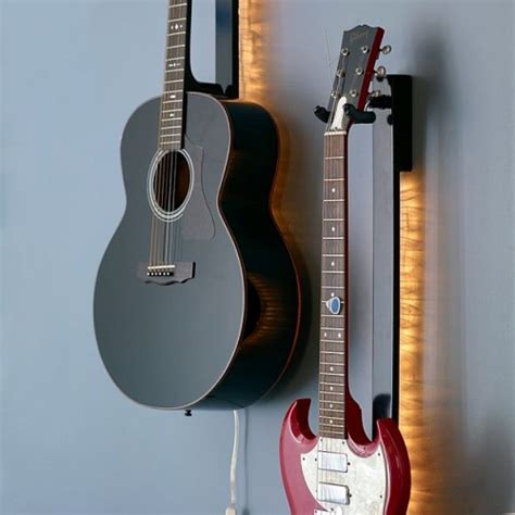 The Light Like A Guitar Only With Light by Guitar Light Silhouettes Your Axe Craziest Gadgets