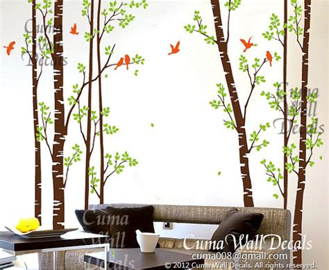 Forest Nursery Wall Decals Nursery Wall Decals Tree Birds Nature Forest Vinyl Wall By Cuma