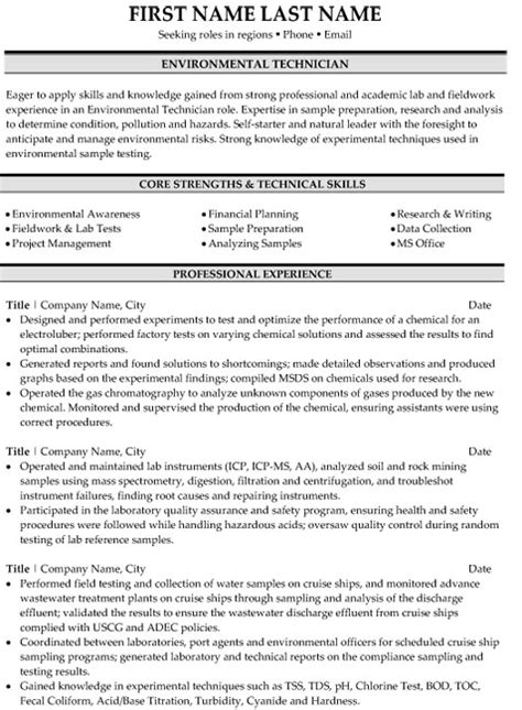 Top Environment Resume Templates & Samples