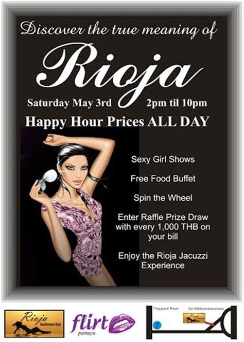 Happy Hour Rioja by Happy Hour Prices All Day Flirt Pattaya