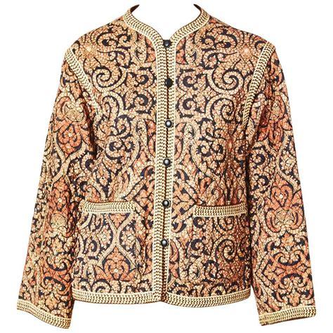 Kemeja Black Mix Batik Gold Metalic yves laurent batik print quilted jacket at 1stdibs