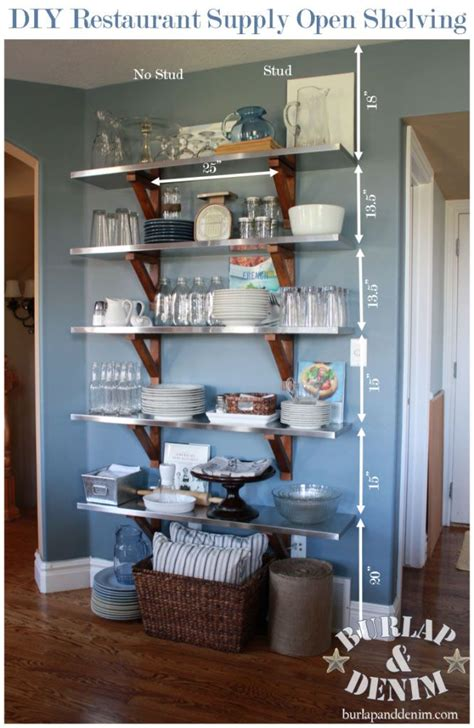 diy open shelving   kitchen kitchen dining