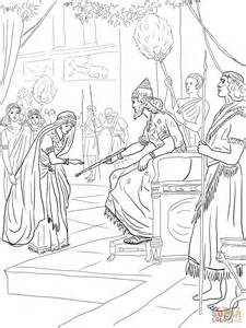 esther coloring pages esther and king xerxes coloring page free printable