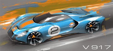 porsche  concept design sketch  george yoo car body