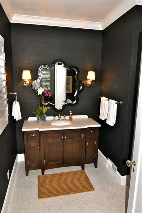 dark paint in bathroom powder room paint plans desert domicile