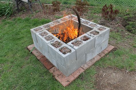 Homemade Fire Pit Is A Perfect Accent For Your Backyard Images Of Firepits