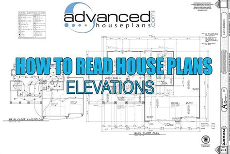 how to read a house plan how to read house plans elevations