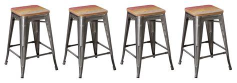 vintage wood and metal bar stools btexpert 24 inch industrial metal vintage antique brush