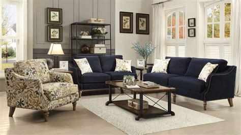 blue living room set vessot ink blue living room set from coaster 505791