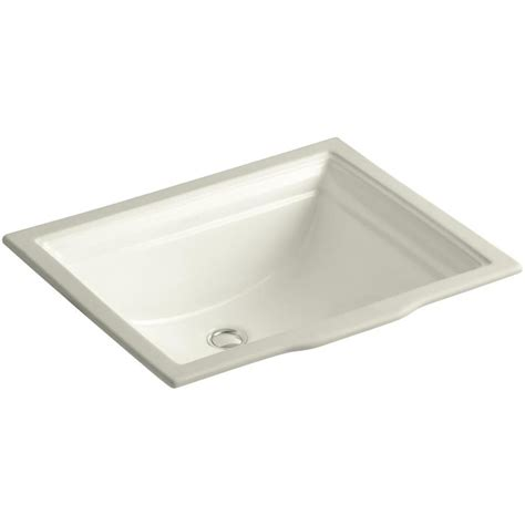 rectangular bathroom sink undermount shop kohler memoirs biscuit undermount rectangular