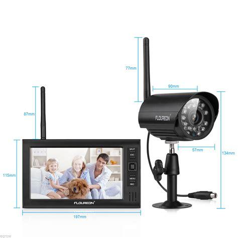 4 wireless cctv kit 7 quot lcd monitor dvr motion