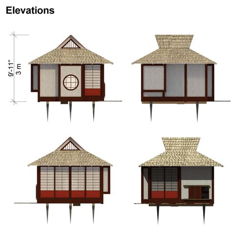 japanese house plans japanese tea house plans