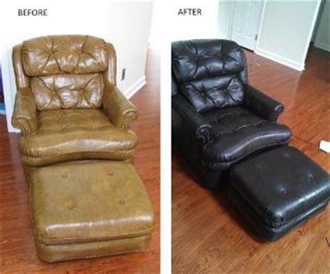 how to refinish leather couch did you know theres a special stain type paint for recolor