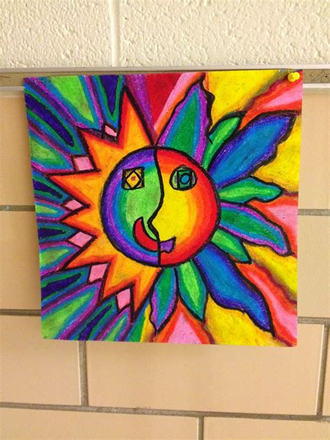 art projects what s happening in the art room 4th grade aztec sun