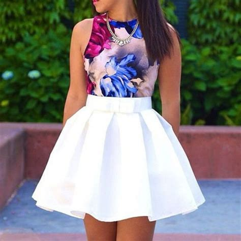 Lnice Flower Top Skirt fashion skirts 2015 brand solid plus size skirts
