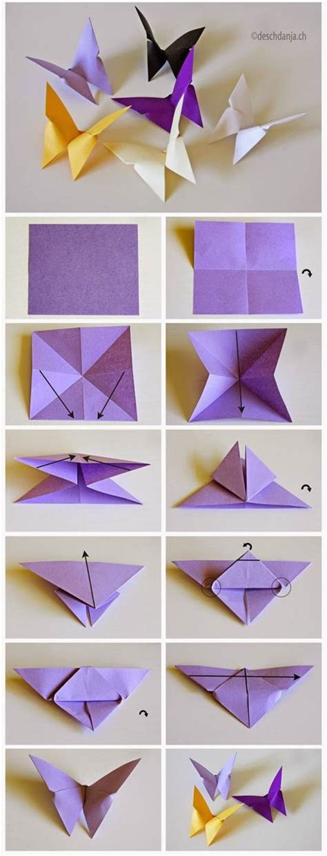 Written Origami - how to diy origami butterfly icreativeideas