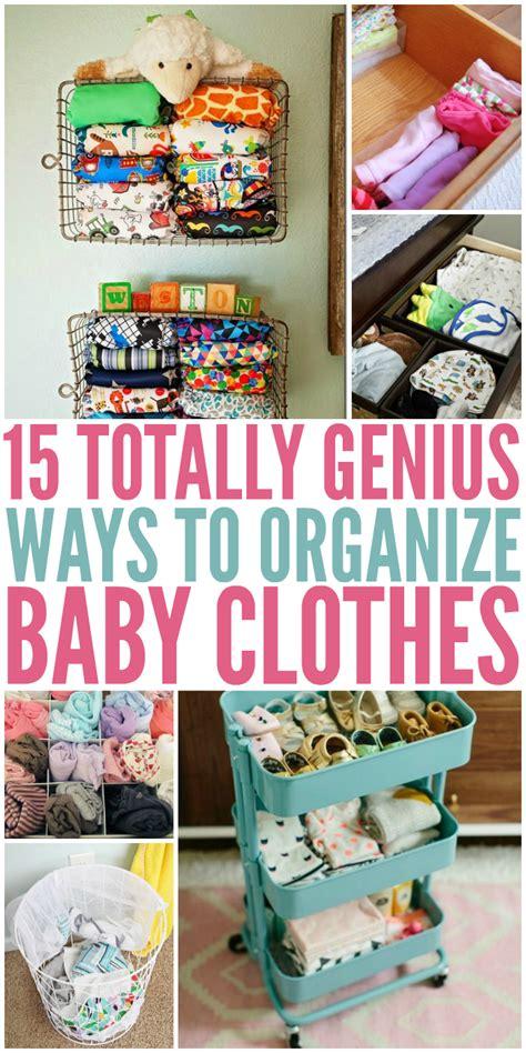 8 Ways To Customise Your Clothes by 15 Totally Genius Ways To Organize Baby Clothes