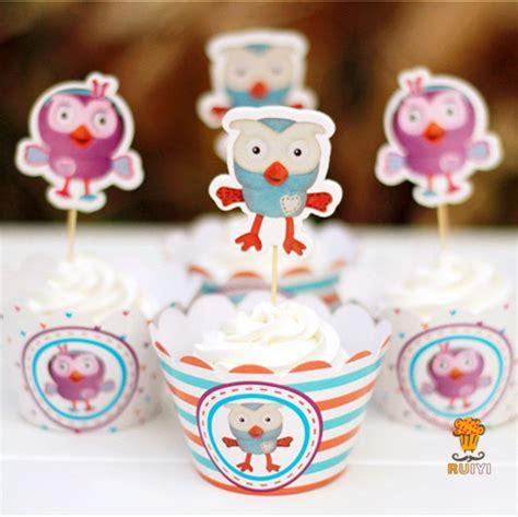 Supplier Baju Owl Top Aw 1 aliexpress buy 12set giggle and hoot owl cupcake