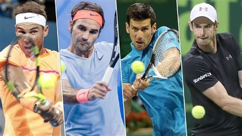 Novak Djokovic, Roger Federer, Rafael Nadal and Andy