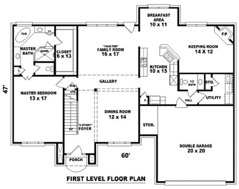 european style house plan 4 beds 3 5 baths 2972 sq ft