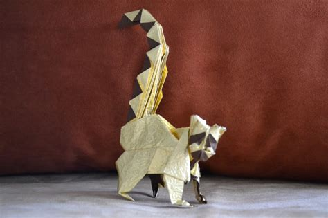 Origami Lemur - ringed tailed lemur design by rom 225 n d 237 az