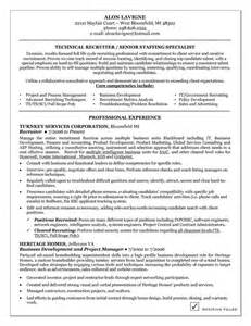 Entry Level Recruiter Sle Resume by Technical Recruiter Resume Exle Resume Exles And Resume