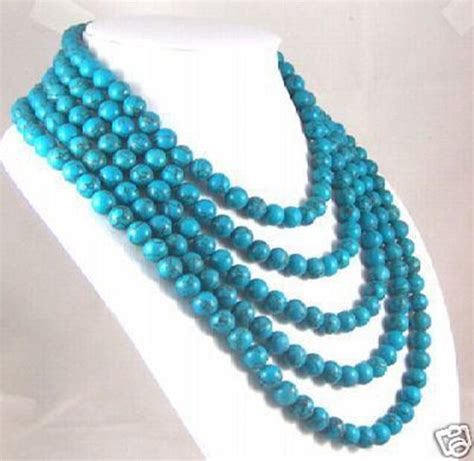 genuine turquoise wholesale 100 quot inch asia genuine 8mm turquoise jewelry necklace