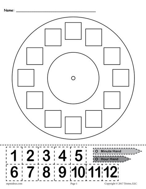 printable telling time games for kindergarten free printable quot build a clock quot telling time activity