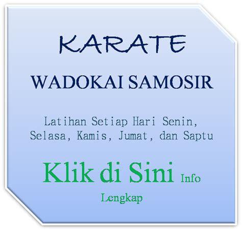 Baju Karate Wadokai Samosir