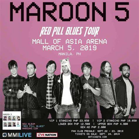 8428 Manila Maron maroon 5 in manila 2019 tickets venue updates philippines