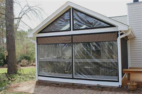 plastic curtains for porches vinyl window coverings for screened in porch weather