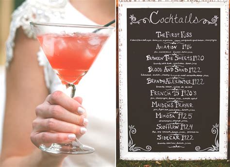 cocktail themed names 8 fun ideas for a great gatsby themed wedding