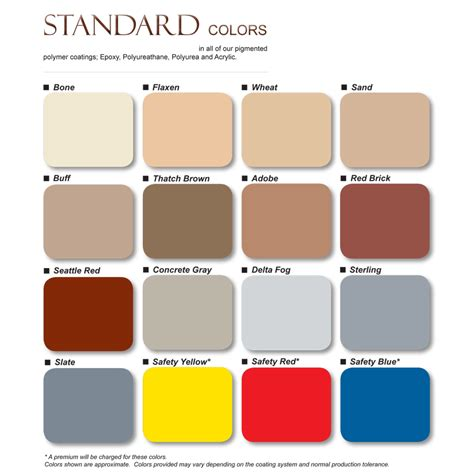 color standards standard colors color chart