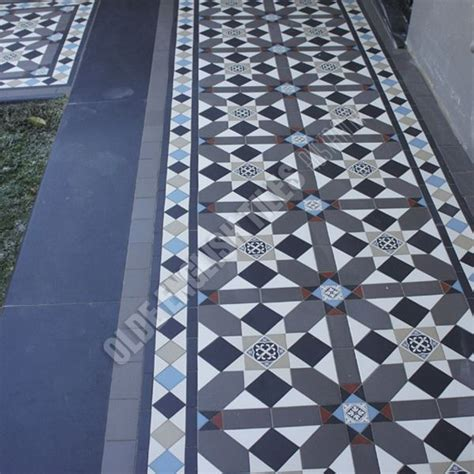 Patchwork Melbourne - albert park vic fitzroy pattern with norwood border