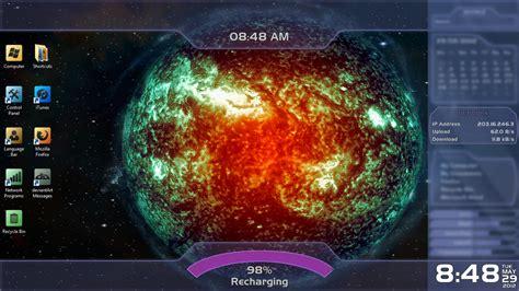 black themes star dark star mass effect rainmeter skin