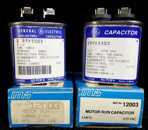 ge capacitor a10000afc new ge dielektrol motor run capacitor 3uf 6x651b z97f5503 a10000afc 685744 12003 motors and boxes