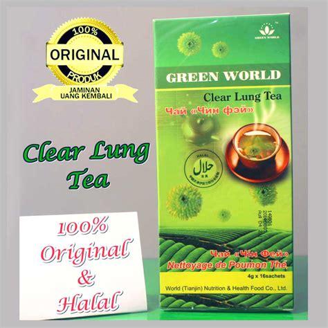 Green Tea For Lung Detox by Clear Lung Tea Teh Berbahan Alami Bantu Bersihkan Paru