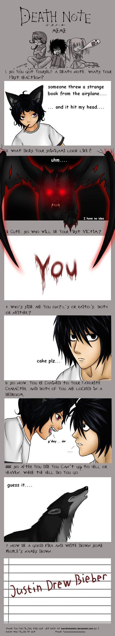 Death Note Meme - death note meme by zerieleany on deviantart