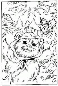 ewok coloring pages free coloring pages of ewoks