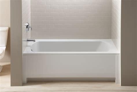 tile front of bathtub lawson 5 alcove bath create the impression of custom