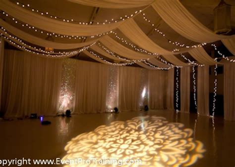 drape lights weddings ceiling draping event pro training